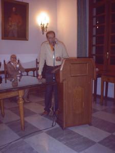 carmine adinolfi durante la premiazione